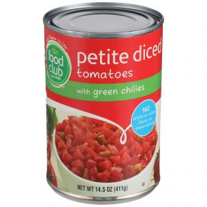 Diced Tomatoes With Green Chilies, Petite