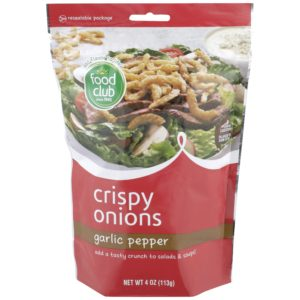 Crispy Onions, Garlic Pepper