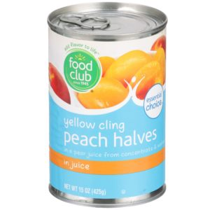 Yellow Cling Peach Halves In Juice
