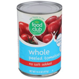Whole Peeled Tomatoes - No Salt Added
