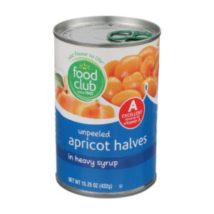 Apricot Halves In Heavy Syrup, Unpeeled