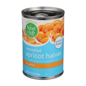Unpeeled Apricot Halves In Juice
