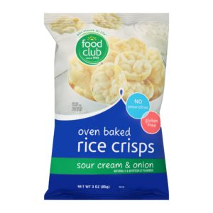 Oven Baked Rice Crisps, Sour Cream & Onion