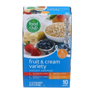 Fruit & Cream Variety Instant Oatmeal