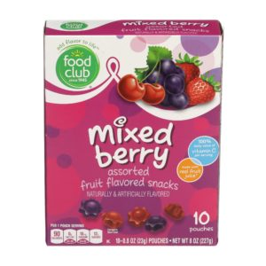 Fruit Snacks, Mixed Berry Assorted