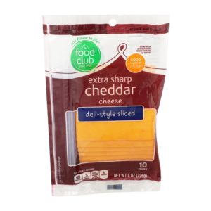 Extra Sharp Cheddar Cheese, Deli-Style Sliced