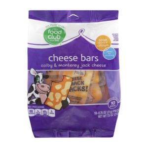 Colby & Monterey Jack Cheese, Cheese Bars
