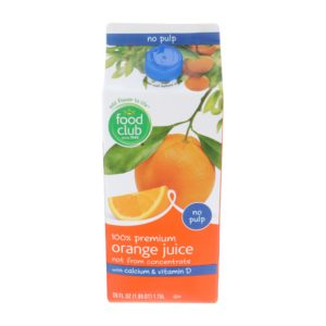 100% Premium Orange Juice, with Calcium & Vitamin D, No Pulp