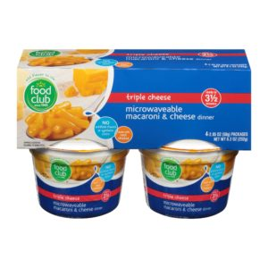 Triple Cheese, Microwaveable Macaroni & Cheese Dinner