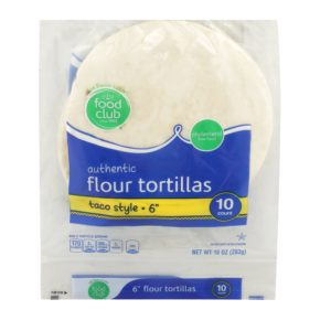 Authentic Flour Tortillas, Taco Style 6""