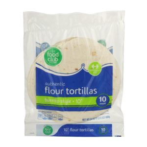 Authentic Flour Tortillas, Burrito Style - 10""