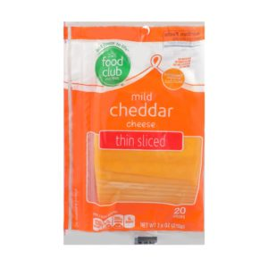 Mild Cheddar Cheese, Thin Sliced