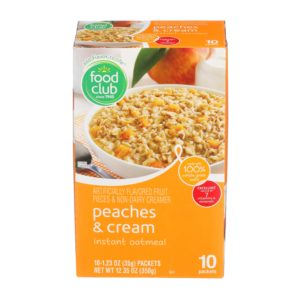 Peaches & Cream Instant Oatmeal