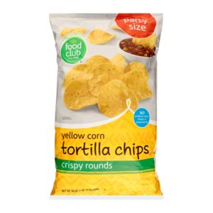 Yellow Corn Tortilla Chips - Party Size, Crispy Rounds