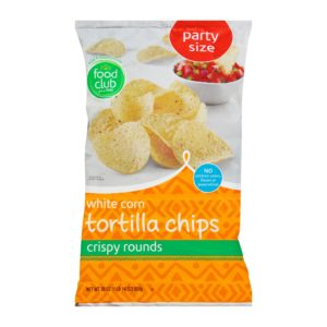 White Corn Tortilla Chips - Party Size, Crispy Rounds