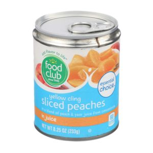 Yellow Cling Sliced Peaches In Juice