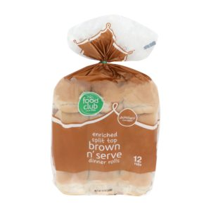 Split Top Brown N' Serve Dinner Rolls, Enriched
