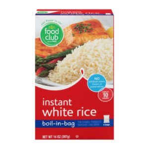 Instant White Rice, Boil-In-Bag