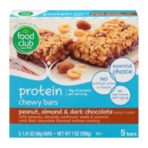 Peanut, Almond & Dark Chocolate Protein Chewy Bars