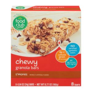 Chewy Granola Bars, S'mores