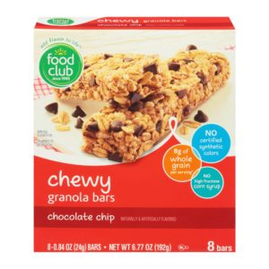 Chewy Granola Bars, Chocolate Chip