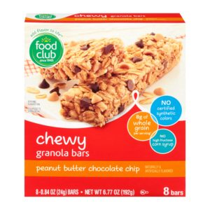 Chewy Granola Bars, Peanut Butter Chocolate Chip