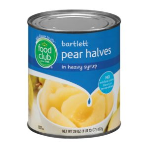 Bartlett Pear Halves In Heavy Syrup