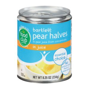 Bartlett Pear Halves In Juice