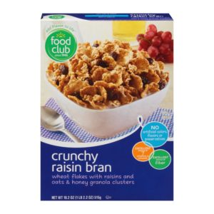 Crunchy Raisin Bran Cereal
