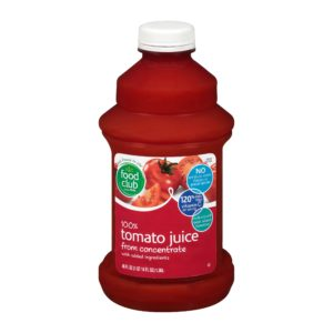 100% Tomato Juice From Concentrate