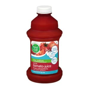 100% Tomato Juice - Low Sodium