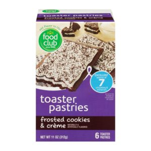 Frosted Cookies & Crème Toaster Pastries