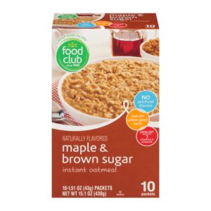 Maple & Brown Sugar Instant Oatmeal