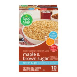 Maple & Brown Sugar Instant Oatmeal, Lower Sugar