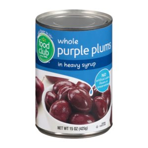 Purple Plums In Heavy Syrup, Whole