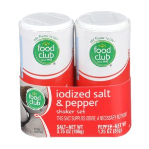 Iodized Salt & Pepper Shaker Set