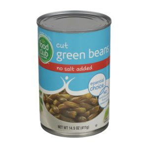 Cut Green Beans - No Salt Added