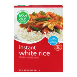 Instant White Rice, Enriched Long Grain