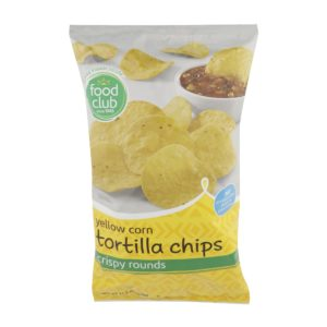 Yellow Corn Tortilla Chips, Crispy Rounds
