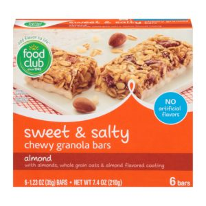 Almond Sweet & Salty Chewy Granola Bars