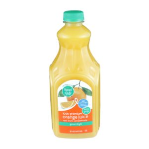 100% Premium Orange Juice - With Pulp, Grove Style