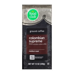 Ground Coffee - Colombian Supreme, 100% Colombian Arabica, Medium Roast
