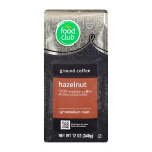 Ground Coffee - Hazelnut, 100% Arabica, Light Roast