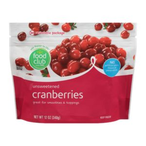 Cranberries, Unsweetened